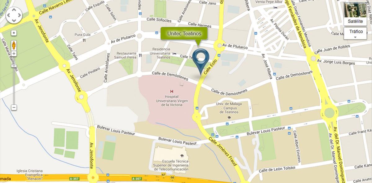 Mapa Unitec Teatinos