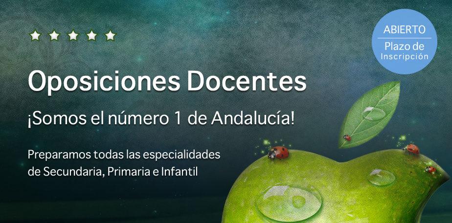 Número 1 de Andalucía en Oposiciones Docentes